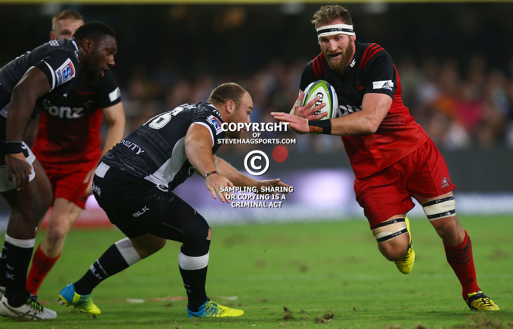 DURBAN, SOUTH AFRICA - MARCH 26: Kieran Read (C) of the BNZ Crusaders during the Super Rugby match between Cell C Sharks and BNZ Crusaders at Growthpoint Kings Park on March 26, 2016 in Durban, South Africa. (Photo by Steve Haag/Gallo Images)