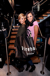 Left to right, FRANKIE SANDFORD and ROCHELLE WISEMAN at a party to celebrate the Firetrap Watches and Kate Moross Collaboration Launch, held at Firetrap, 21 Earlham Street, London, UK on 13th October 2010.