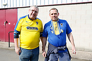 Wimbledon fans during the EFL Sky Bet League 1 match between Scunthorpe United and AFC Wimbledon at Glanford Park, Scunthorpe, England on 30 March 2019.