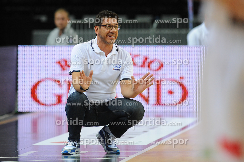 Fotis Katsikaris, head coach of Greece during friendly match between National Teams of Slovenia and Greece before World Championship Spain 2014 on August 17, 2014 in Kaunas, Lithuania. Photo by Robertas Dackus / Sportida.com
