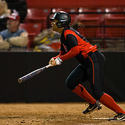 02 March 2018: San Diego State softball closes out day two of the San Diego Classic I at Aztec Softball Stadium with a night cap against CSU Northridge. San Diego State first baseman Taylor Adams (99) leads off the bottom of the fifth with a double to right field. The Aztecs dropped a close game 2-0 to the Matadors. <br /> More game action at sdsuaztecphotos.com
