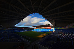 CARDIFF, WALES - Sunday, October 13, 2019: A general view of Cardiff City Stadium before the UEFA Euro 2020 Qualifying Group E match between Wales and Croatia. (Pic by David Rawcliffe/Propaganda)