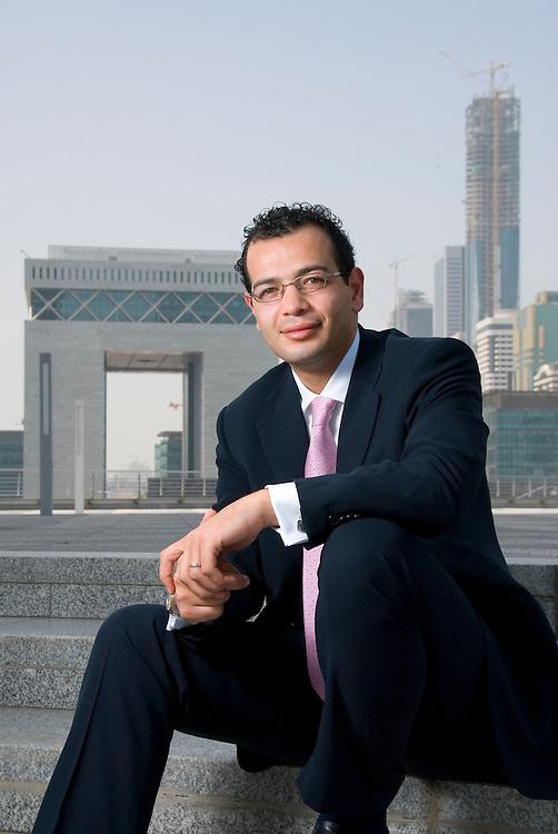 Ayman H.A. Khaleq, Associate at Vinson & Elkins, Dubai, United Arab Emirates on August 18, 2006..By Siddharth Siva