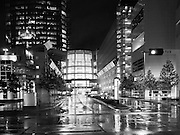 Downtown Oklahoma City during the rain