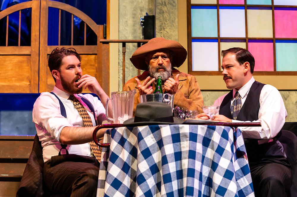 """Dress rehearsal from """"The Time of Your Life"""" by William Saroyan<br /> Directed by Dennis Cockrum.<br /> Performances: October 18-20<br /> Friday and Saturday at 8:00 PM, Sunday at 2:00 PM<br /> Mt. SAC Sophia B Clarke Theater"""