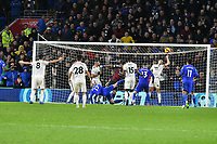 Football - 2018 / 2019 Premier League - Cardiff City vs. Wolverhampton Wanderers<br /> <br /> Aron Gunnarsson Cardiff City scores his team's first goal, at Cardiff City Stadium.<br /> <br /> COLORSPORT/WINSTON BYNORTH