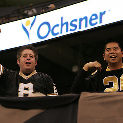 2008 December, 07: New Orleans Saints fans cheer from the stands during a 29-25 victory by the New Orleans Saints over NFC South divisional rivals the Atlanta Falcons at the Louisiana Superdome in New Orleans, LA.