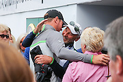Chris Wood is congratulated by parents during the BMW PGA Championship at Wentworth Club, Virginia Water, United Kingdom on 29 May 2016. Photo by Phil Duncan.