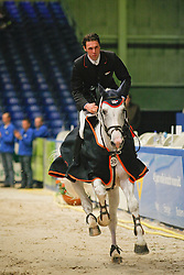 Van Asten Mathijs (NED) - Cartano<br />  KWPN Hengstenkeuring 2009<br /> © Dirk Caremans