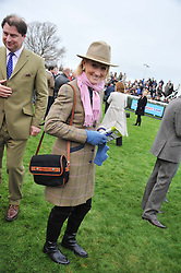 LUCINDA GREEN at the Hennessy Gold Cup at Newbury Racecourse, Berkshire on 26th November 2011.
