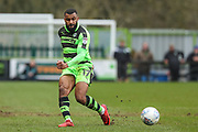 Forest Green Rovers Dan Wishart(17) passes the ball during the EFL Sky Bet League 2 match between Forest Green Rovers and Mansfield Town at the New Lawn, Forest Green, United Kingdom on 24 March 2018. Picture by Shane Healey.
