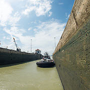 Opened in 1914, the Panama Canal is a crucial shipping lane between the Atlantic and Pacific Oceans that mean that ships don't have to go around the bottom of South America or over the top of Canada. The Canal was originally built and owned by the United States but was handed back to Panama in 1999.