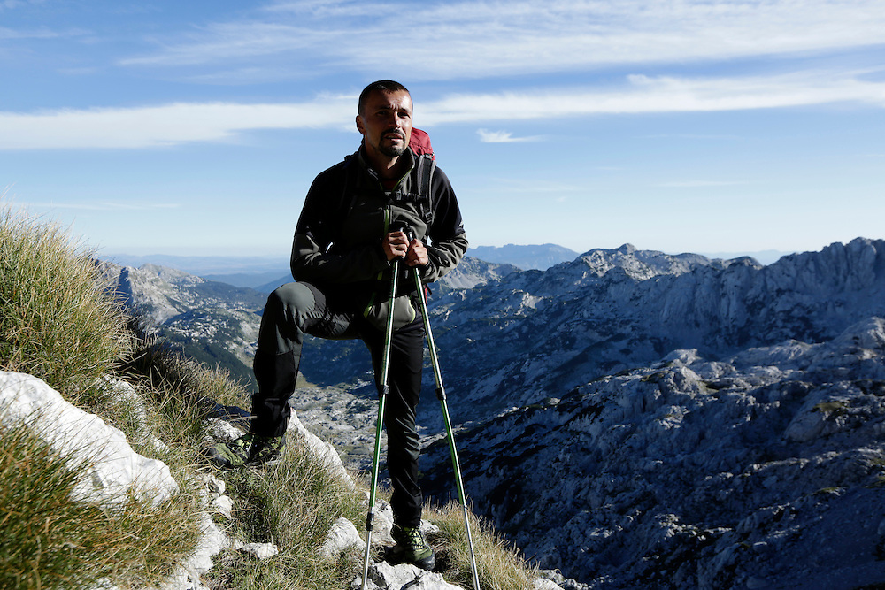 Kenan Muftic, 'Walking the Via Dinarica' project leader on Prenj mountain, Bosnia and Herzegovina.