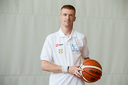 Robi Vlah of Slovenian Deaf Basketball team at media day, on June 13, 2016 in GIB Centre, Ljubljana, Slovenia. Photo by Vid Ponikvar / Sportida