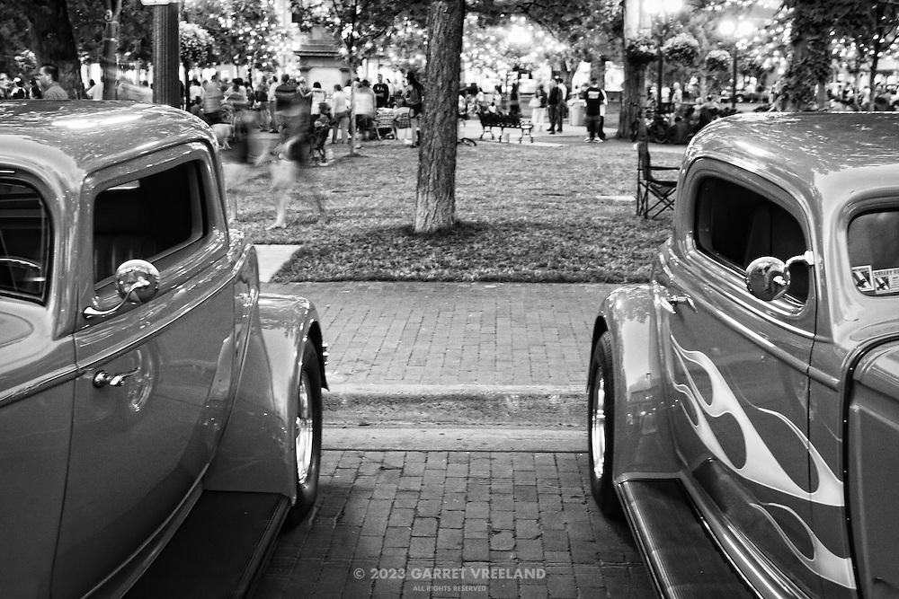 Vintage Hot Rods on the Santa Fe Plaza.