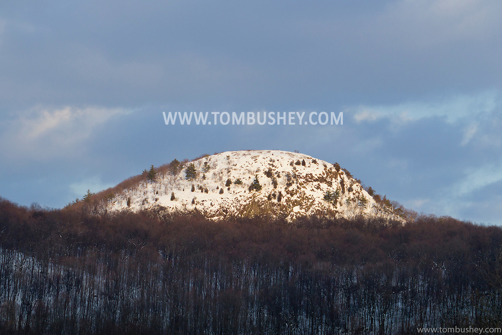 Sugar Loaf, New York -A view of snowy Sugar Loaf Mountain on Feb. 14, 2014.