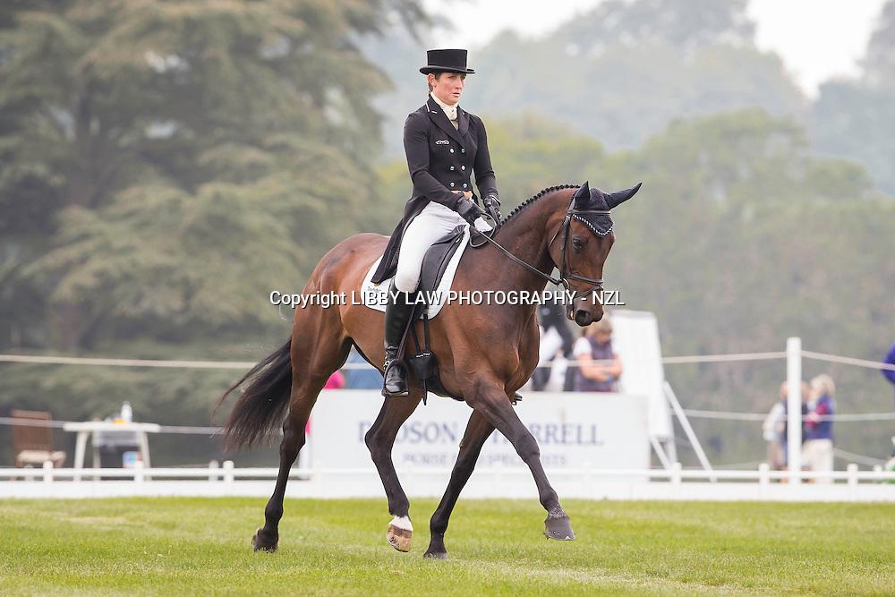NZL-Caroline Powell (SPICE SENSATION) INTERIM-36TH: CIC3* 8&9YO: FIRST DAY OF DRESSAGE: 2014 GBR-Blenheim Palace International Horse Trial (Thursday 11 September) CREDIT: Libby Law COPYRIGHT: LIBBY LAW PHOTOGRAPHY - NZL