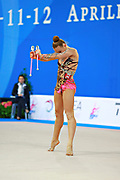 Bezzoubenko Patricia during qualifying at clubs in Pesaro World Cup 11 April 2015.<br />