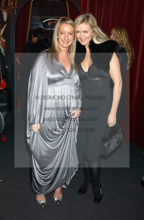 Left to right, ANYA HINDMARSH and AMANDA WAKELEY at a party to celebrate the first issue of British Harper's Bazaar held at Cirque, 10-14 Cranbourne Street, London WC2 on 16th February 2006.<br />