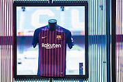 FC Barcelona new shirt at the presentation of Arthur Melo from Brazil on July 11, 2018 at Camp Nou stadium in Barcelona, Spain - Photo Xavier Bonilla / Spain ProSportsImages / DPPI / ProSportsImages / DPPI