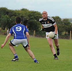 Kilmeena&rsquo;s Liam Heanue in action during the junior championship match on saturday evening last.<br /> Pic Conor McKeown