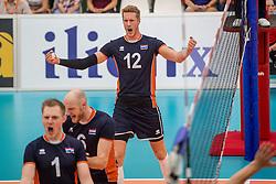 24-09-2016 NED: EK Kwalificatie Nederland - Wit Rusland, Koog aan de Zaan<br /> Nederland wint na een 2-0 achterstand in sets met 3-2 / Kay van Dijk #12