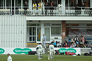 Hassan Azad finishes unbeaten on 46 during the Specsavers County Champ Div 2 match between Leicestershire County Cricket Club and Derbyshire County Cricket Club at the Fischer County Ground, Grace Road, Leicester, United Kingdom on 28 May 2019.