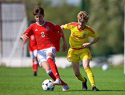 NEWPORT, WALES - Wednesday, July 25, 2018: Cameron Congreve and Ben Thomas during the Welsh Football Trust Cymru Cup 2018 at Dragon Park. (Pic by Paul Greenwood/Propaganda)