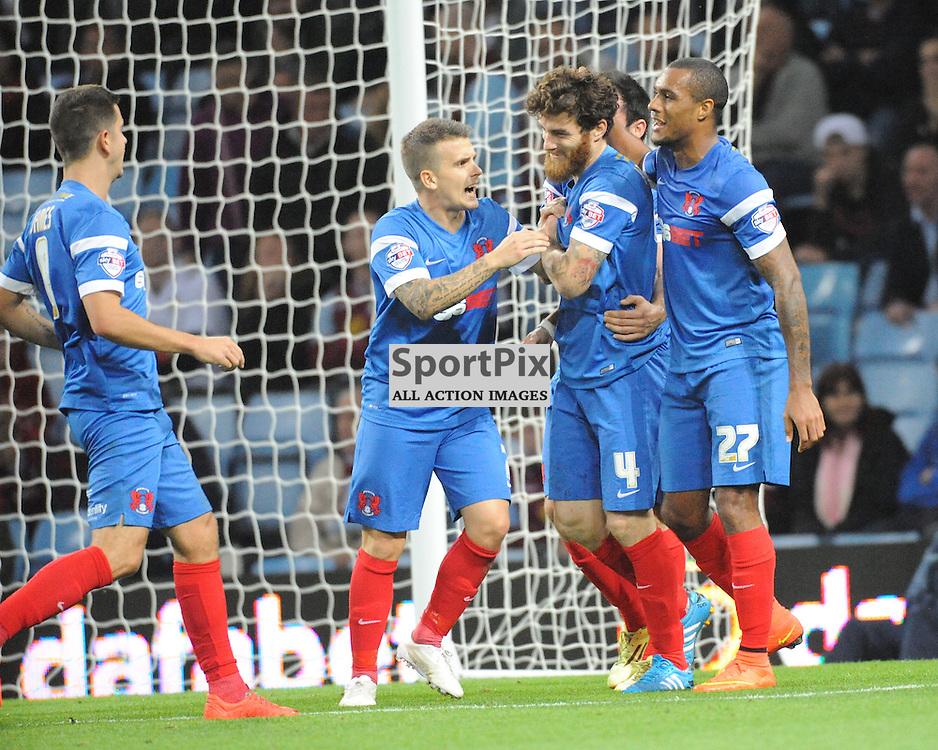 Leyton Celebrate heir Winning Goal, Aston Villa v Leyton Orient, Capital One Cup,  Villa Park,Wednesday 27th August 2014