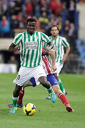 27.10.2013, Estadio Vicente Calderon, Madrid, ESP, Primera Division, Atletico Madrid vs Real Betis, 10. Runde, im Bild Real Betis Nosa // Real Betis Nosa during the Spanish Primera Division 10th round match between Club Atletico de Madrid and Real Betis at the Estadio Vicente Calderon in Madrid, Spain on 2013/10/28. EXPA Pictures © 2013, PhotoCredit: EXPA/ Alterphotos/ Victor Blanco<br /> <br /> *****ATTENTION - OUT of ESP, SUI*****