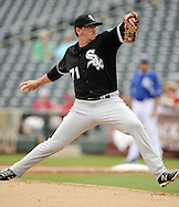 SURPRISE, AZ - MARCH 06:  Chris Beck #71 of the Chicago White Sox pitches against the Kansas City Royals on March 6, 2014 at The Ballpark in Surprise in Surprise, Arizona. (Photo by Ron Vesely)   Subject: Chris Beck