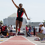 23 March 2018: Je'Neal Ainsworth competes in the open triple jump event Friday afternoon at the 40th Annual Aztec Invitational.<br /> More game action at sdsuaztecphotos.com