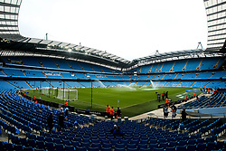 A general view of the Etihad Stadium, home to Manchester City - Mandatory by-line: Robbie Stephenson/JMP - 19/08/2018 - FOOTBALL - Etihad Stadium - Manchester, England - Manchester City v Huddersfield Town - Premier League