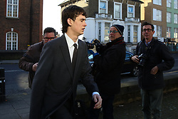 © Licensed to London News Pictures. 09/03/2020. London, UK. IMG model NOAH PONTE arrives at Wood Green Crown Court. He along with LIAM GALLAGHER's son GENE GALLAGHER and RINGO STARR's grandson, SONNY STARKEY are charged with affray and and racially aggravated common assault following a late-night incident at a Tesco Express store on Heath Street in Hampstead on May 17 2019.  Photo credit: Dinendra Haria/LNP