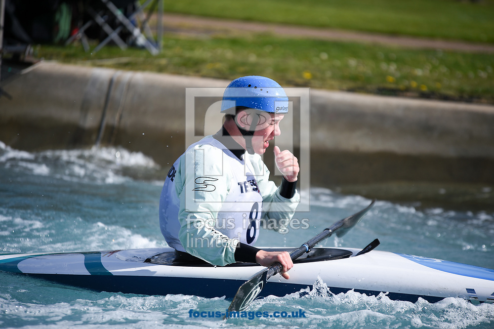 Callum MacEachen during the British Canoeing Team Selections Trials at the Lee Valley White Water Centre, Edmonton<br /> Picture by Hannah Fountain/Focus Images Ltd 07814482222<br /> 16/04/2017