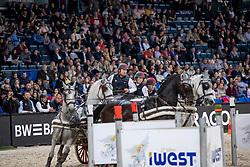 Weber Chester, USA, Maestoso 51, Platon, Pottom, Siglavy Capriola Szultan<br /> FEI World CupTM Driving - Stuttgart 2018<br /> © Hippo Foto - Stefan Lafrentz<br /> 16/11/2018
