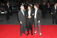 LONDON - OCTOBER 18: Charlie Watts; Ronnie Wood; Keith Richards; Mick Jagger attended the screening of 'Crossfire Hurricane' at the Odeon, Leicester Square, London, UK. October 18, 2012. (Photo by Richard Goldschmidt)