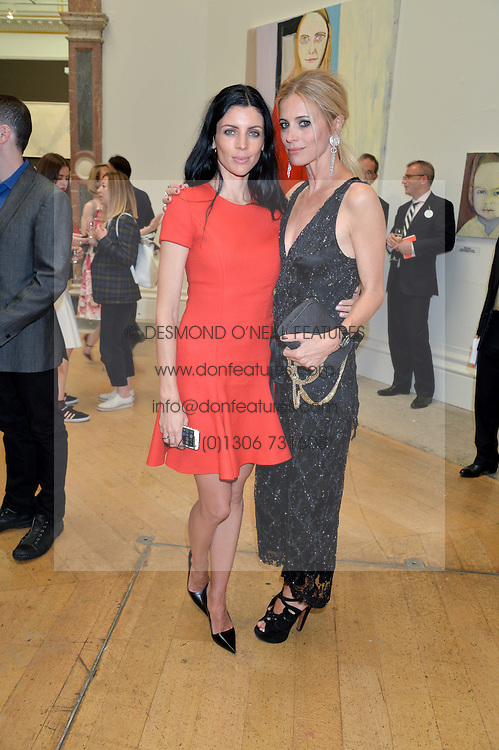 Left to right, LIBERTY ROSS and LAURA BAILEY at the annual Royal Academy of Art Summer Party held at Burlington House, Piccadilly, London on 4th June 2014.
