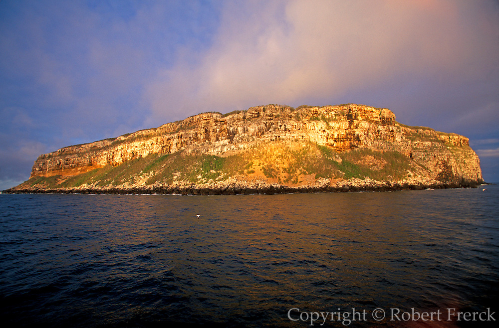 ECUADOR, GALAPAGOS volcanic cliffs on Wolf Island