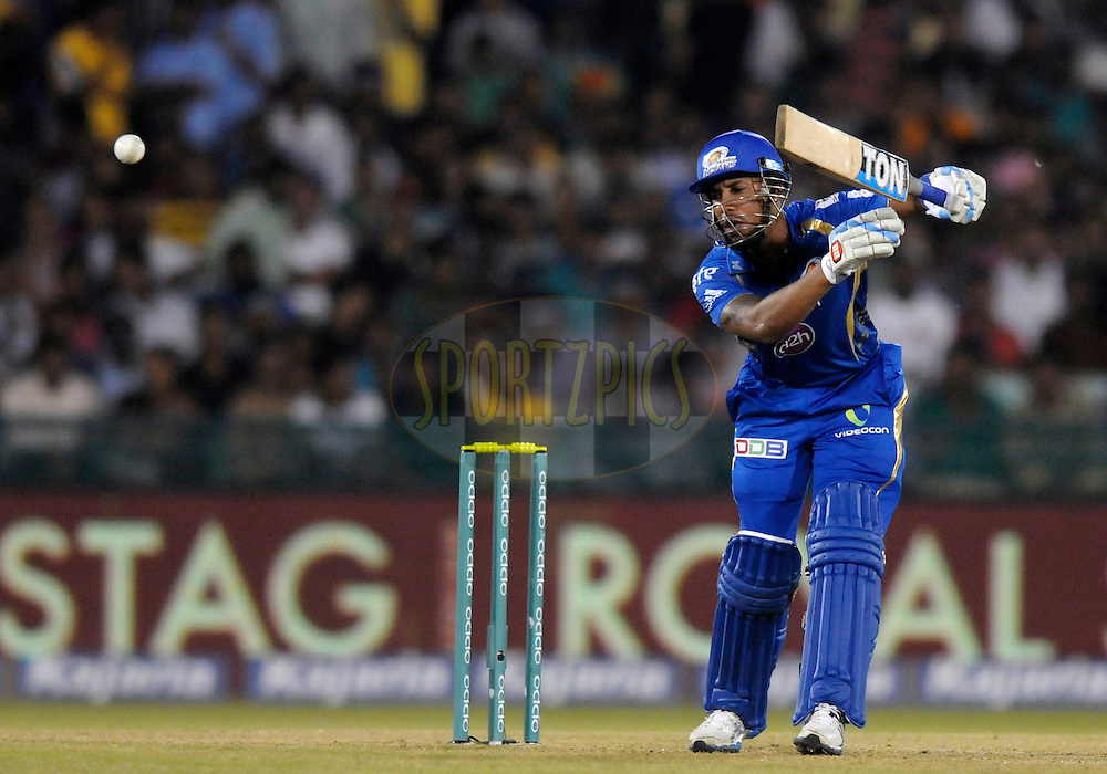 Lendl simmons of Mumbai Indians bats during the qualifier 4 match of the Oppo Champions League Twenty20 between the Mumbai Indians and the Southern Express held at the Chhattisgarh International Cricket Stadium, Raipur, India on the 14th September 2014<br /> <br /> Photo by:  Pal Pillai / Sportzpics/ CLT20<br /> <br /> <br /> Image use is subject to the terms and conditions as laid out by the BCCI/ CLT20.  The terms and conditions can be downloaded here:<br /> <br /> http://sportzpics.photoshelter.com/gallery/CLT20-Image-Terms-and-Conditions-2014/G0000IfNJn535VPU/C0000QhhKadWcjYs