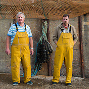 Peter &amp; Chris Gale<br /> <br /> PeterPaul - FE 74<br /> <br /> 12th Generation Fishermen<br /> <br /> Main Activity: Potting &amp; Netting<br /> <br /> Folkestone was founded on its fishing industry which dates back to pre-Roman times.  During its heyday there were over 100 boats operating out of the busy harbour and employing over 1000 people in the town.  However today, there are only 8 working boats left, employing just over 20 people. The boats are owned and managed by Folkestone families who have a strong fishing heritage. Photographer Andrew Aitchison, has been working with Folkestone Trawlers to capture portraits of the active fishermen in the summer of 2016.