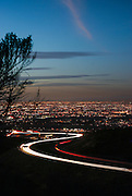 Orange County City Lights View from the 73 Toll Road