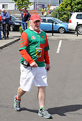 Mayo fans on their way to McHale Park on saturday last.<br />