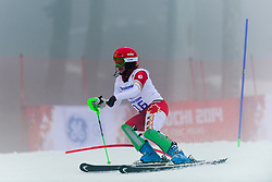 STARKER Alexandra competing in the Alpine Skiing Super Combined Slalom at the 2014 Sochi Winter Paralympic Games, Russia