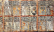 Section from the Mayan Troano Codex. Maya peoples of Central and South America