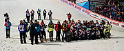 Poland, Wisla Malinka - 2017 November 18: Photographers wait for awarding ceremony during FIS Ski Jumping World Cup Wisla 2017/2018 - Day 2 at jumping hill of Adam Malysz on November 18, 2017 in Wisla Malinka, Poland.<br /> <br /> Mandatory credit:<br /> Photo by &copy; Adam Nurkiewicz<br /> <br /> Adam Nurkiewicz declares that he has no rights to the image of people at the photographs of his authorship.<br /> <br /> Picture also available in RAW (NEF) or TIFF format on special request.<br /> <br /> Any editorial, commercial or promotional use requires written permission from the author of image.