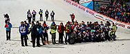 Poland, Wisla Malinka - 2017 November 18: Photographers wait for awarding ceremony during FIS Ski Jumping World Cup Wisla 2017/2018 - Day 2 at jumping hill of Adam Malysz on November 18, 2017 in Wisla Malinka, Poland.<br /> <br /> Mandatory credit:<br /> Photo by © Adam Nurkiewicz<br /> <br /> Adam Nurkiewicz declares that he has no rights to the image of people at the photographs of his authorship.<br /> <br /> Picture also available in RAW (NEF) or TIFF format on special request.<br /> <br /> Any editorial, commercial or promotional use requires written permission from the author of image.