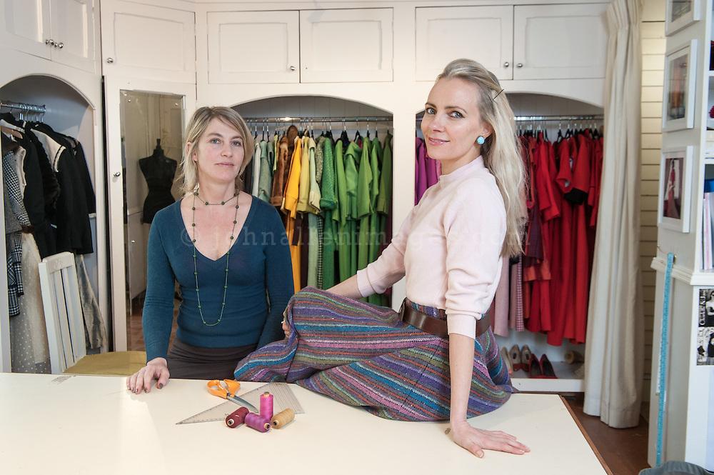 Designers Charlotte and Jane in their Kinsale Studio.<br /> Picture. John Allen