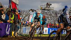 Klaas VANTORNOUT (3,BEL) 2nd lap at Men UCI CX World Championships - Hoogerheide, The Netherlands - 2nd February 2014 - Photo by Pim Nijland / Peloton Photos