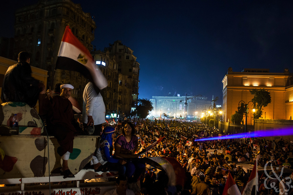"Egyptians take part in mass demonstrations called for by Gen. Abdel Fattah El Sissi, the head of Egypt's military, in the Tahrir Square area of downtown Cairo Egypt on Friday July 26, 2013. EL Sissi had asked Egyptians to take to the streets on Friday to show the world that he had a mandate to deal with ""violence and terrorism""."